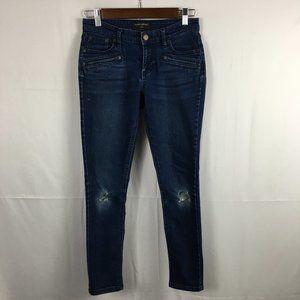 Banana Republic Distressed Denim Legging Jeans